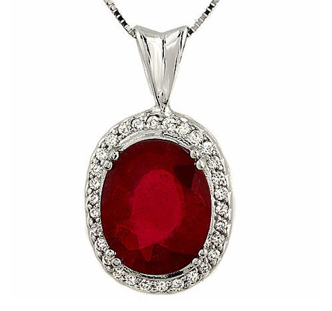 63rubypendant wg2g 63 ct natural ruby diamond pendant chain 14k gold mozeypictures Image collections